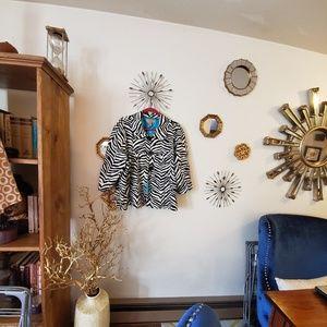 Paris Blue Zebra print Jacket 3x